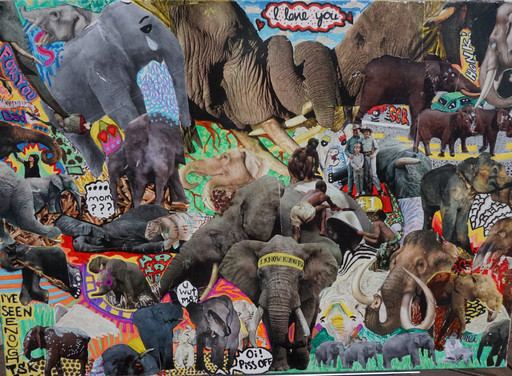 """""""For The Love of Elephants"""" - $100.00 CAD"""