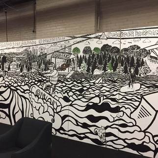 Boarder Pass Boat Show Mural
