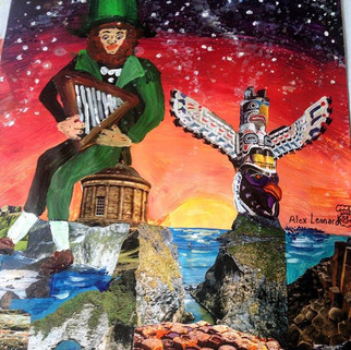 Mix Media Mural for a hostel in Ireland