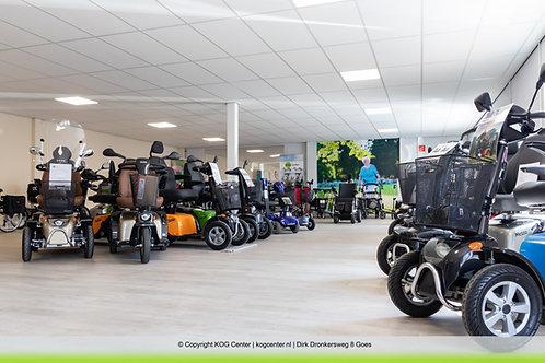 Grote voorraad scootmobielen bij KOG Center