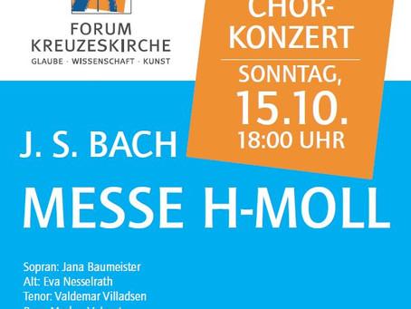 "15.10.2017: ""Messe h-moll"" J.S. Bach"
