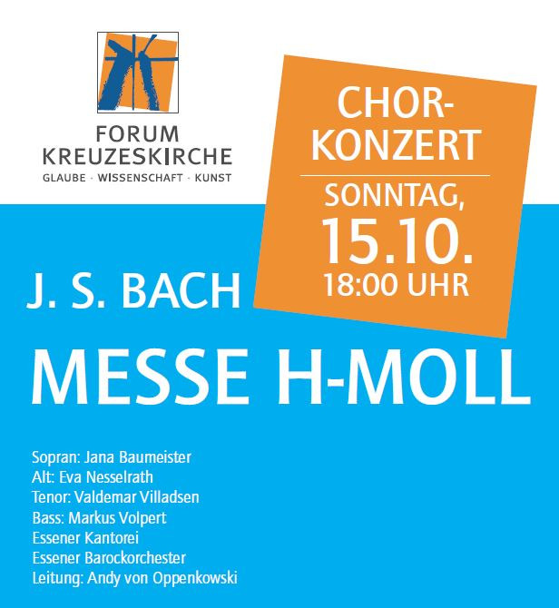 Plakat Ausschnitt Messe h-moll 15.10.2017