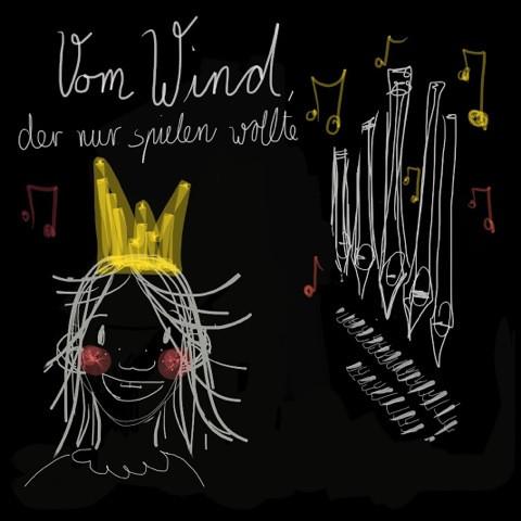 Vom Wind, der nur spielen wollte;  Illustration und Bildrechte Annika Demmer 2017