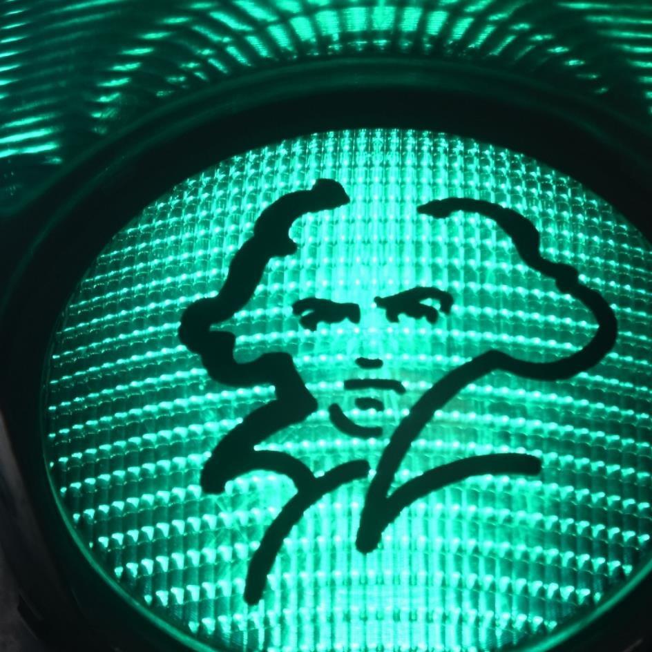 Detail der Beethoven-Ampel © Bundesstadt Bonn