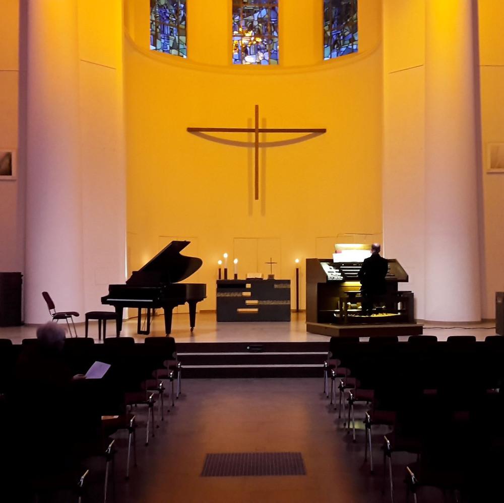 Orgelstudio Kreuzeskirche Essen 13.03.2018, © Forum Kreuzeskirche Essen, Foto: Andy von Oppenkowski