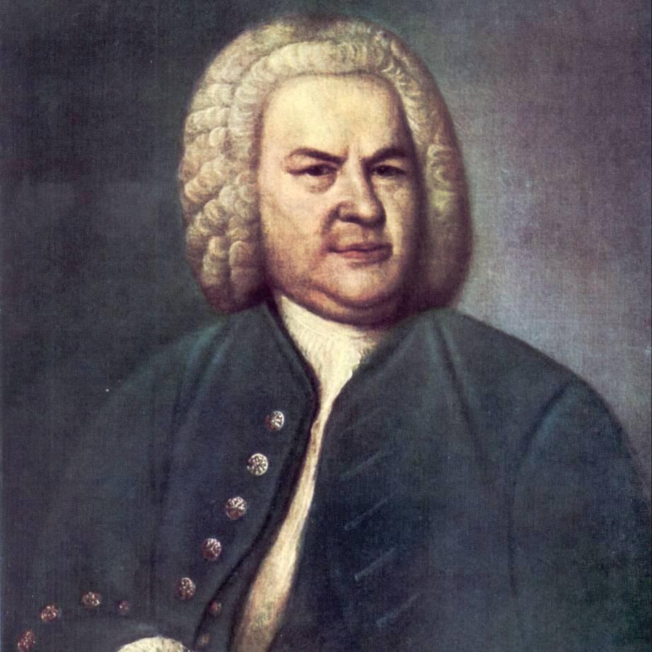 J. S. Bach im Jahre 1746, Ölgemälde von Elias Gottlob Haußmann aus dem Jahre 1748. Wikipedia Gemeinfrei (Ausschnitt)