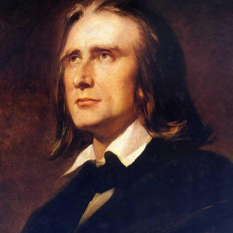 Franz Liszt 1856, nach einem Gemälde von Wilhelm von Kaulbach, Foto: Wikipedia gemeinfrei