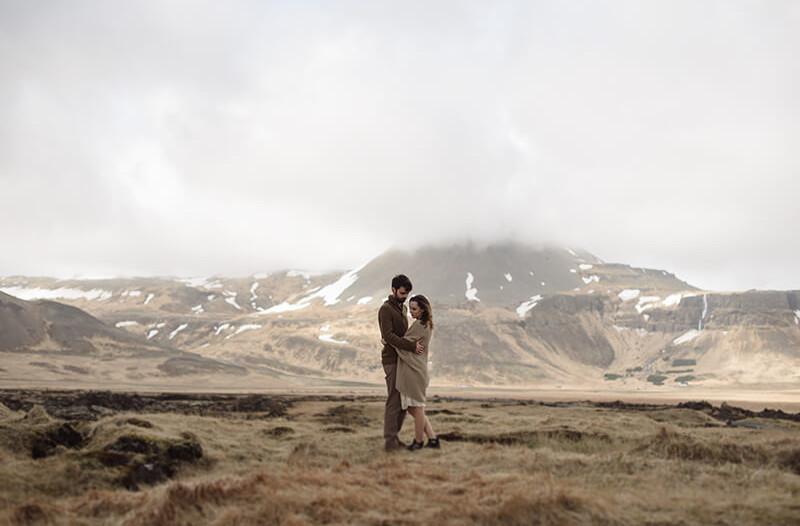sesja narzeczeńska na Islandii