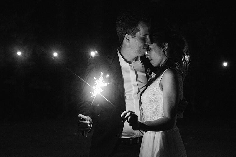 zimne ognie na weselu w Bagatelce