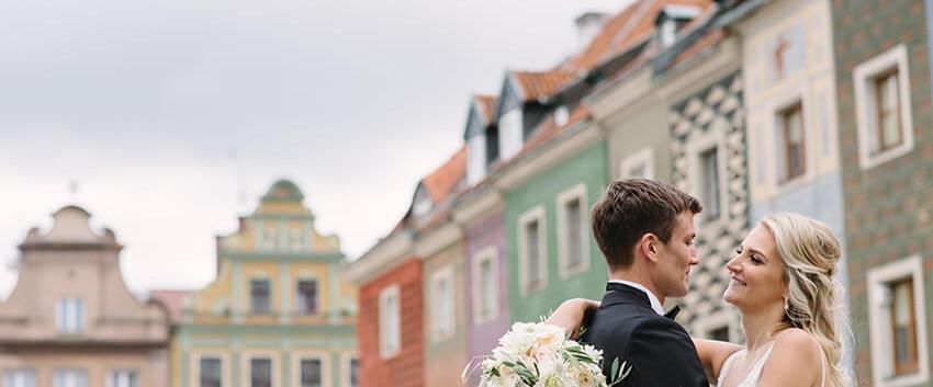 sesja ślubna na Starym Rynku w Poznaniu