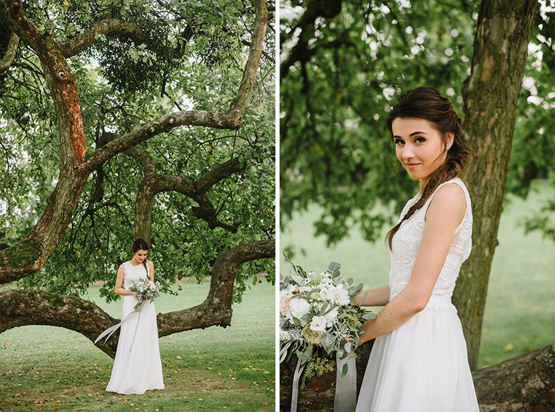 panna młodaw sukni ślubnej od Ochocka Atelier