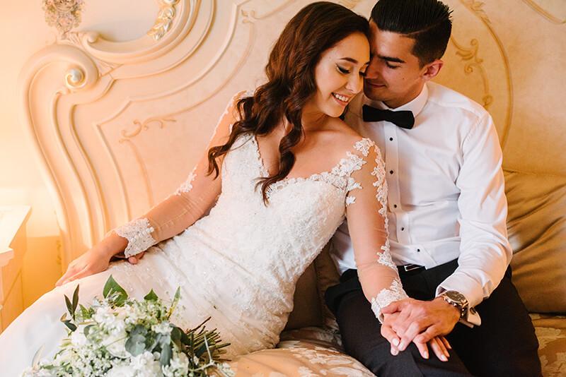 sesja ślubna w Pałacu Tarce