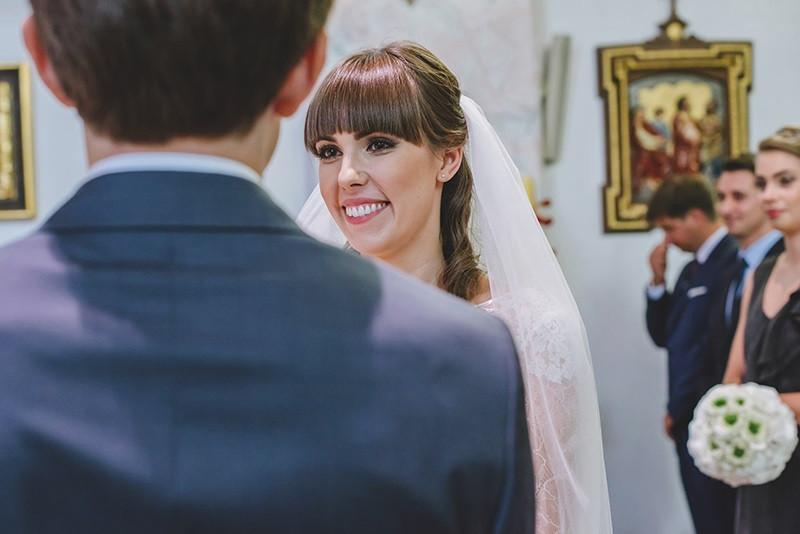 przysięga małżeńska w kościele w Kiekrzu