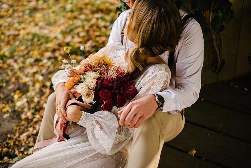 jesienny bukiet do ślubu
