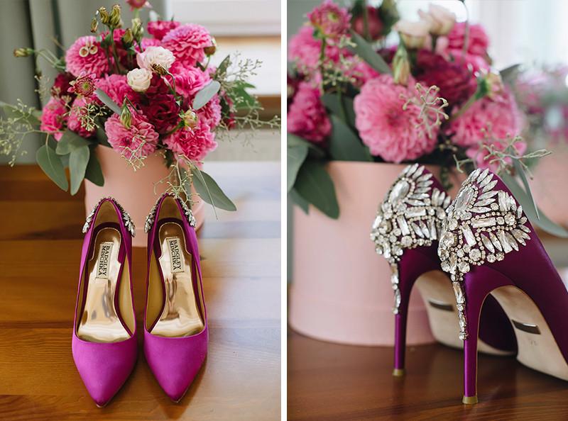 badgley mischka buty ślubne