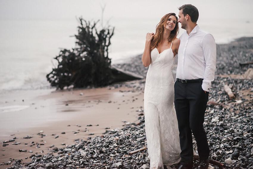 plener ślubny na plaży w Rugii