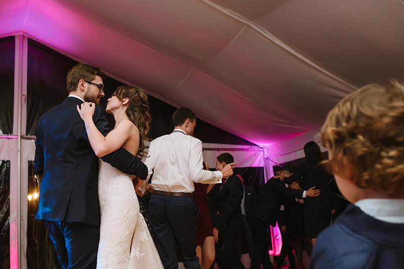 impreza weselna w namiocie