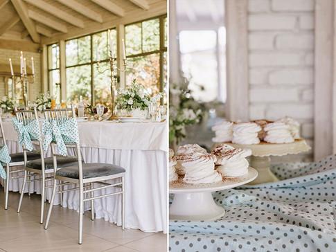 słodki stół na chrzest świety