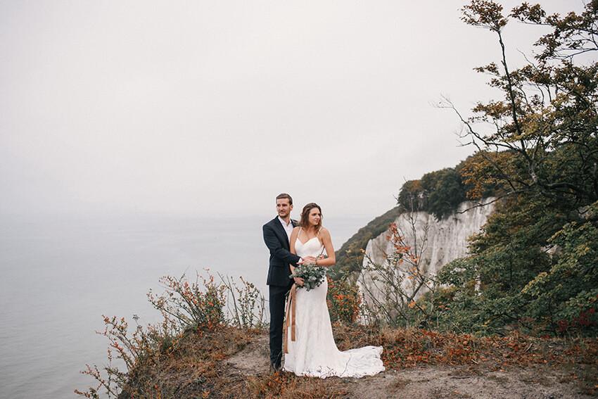 zdjęcia ślubne na klifie