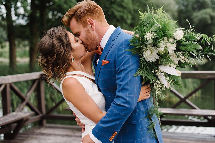 naturalny bukiet ślubny