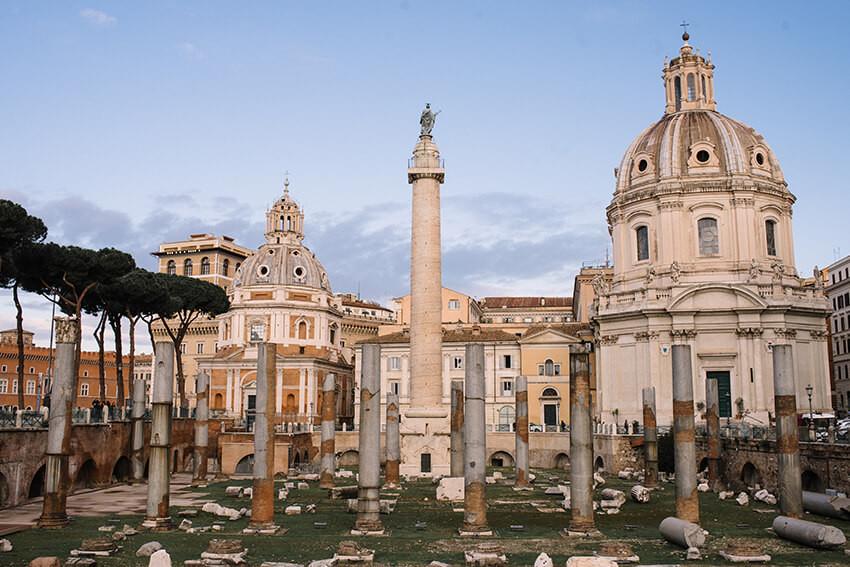 ruiny starożytnego rzymu
