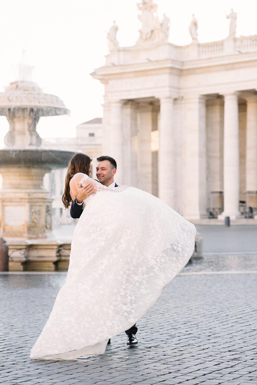 długa suknia ślubna