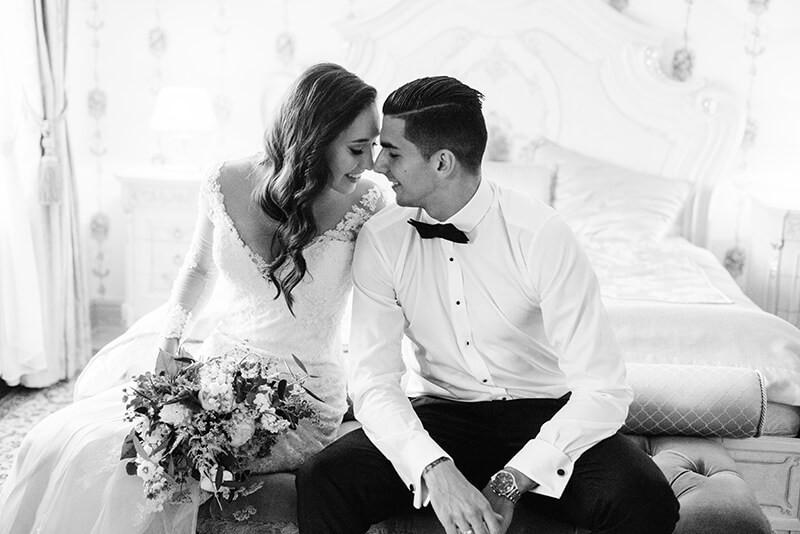 ślubna sesja zdjęciowa w stylu glamour