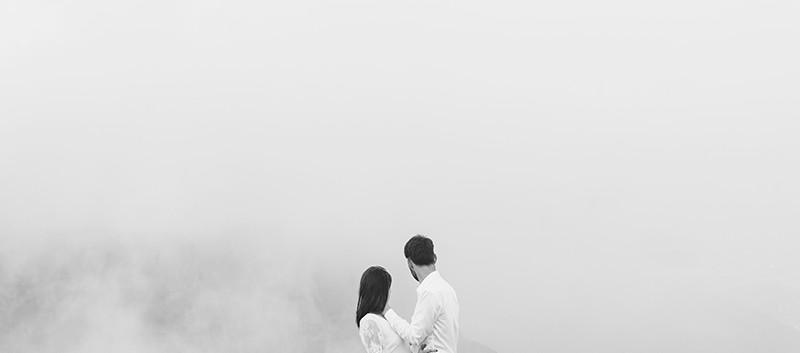 sesja we mgle w górach