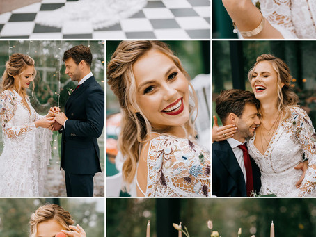 Stylizowana sesja ślubna w Dworku Separowo