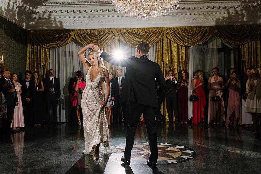 pierwszy taniec w Pałacu Tarce