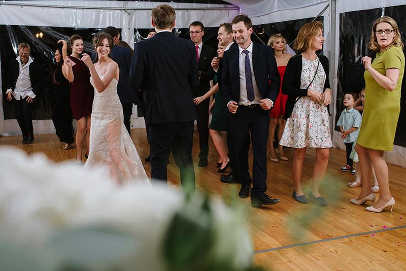 wesele w namiocie Pałacu Zdunowo