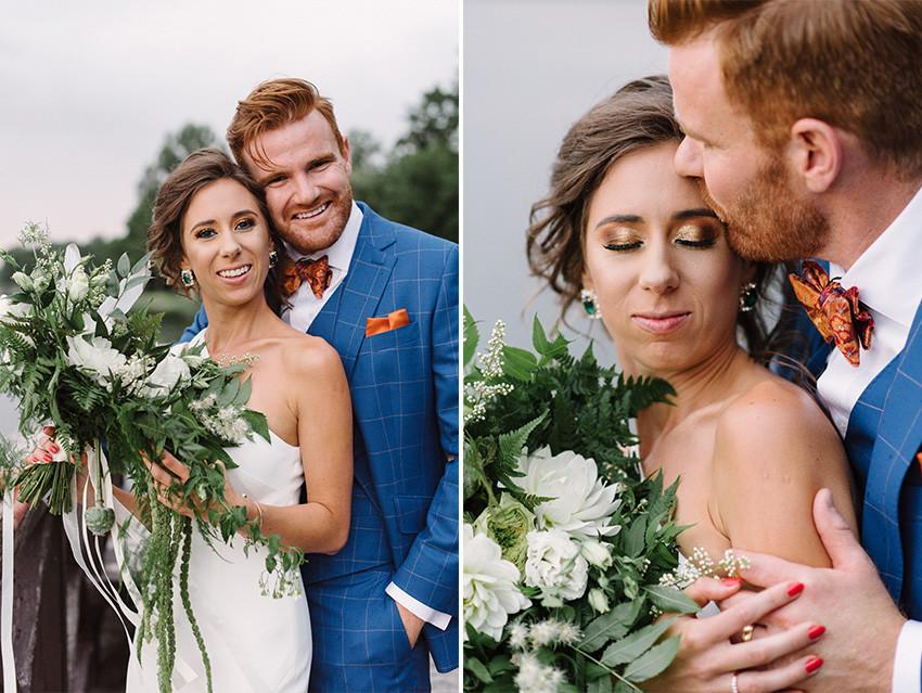opalizujący makijaż ślubny