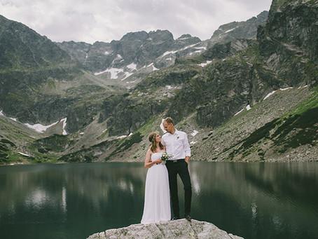 Plener ślubny w górach | Czarny Staw | Anna i Marek