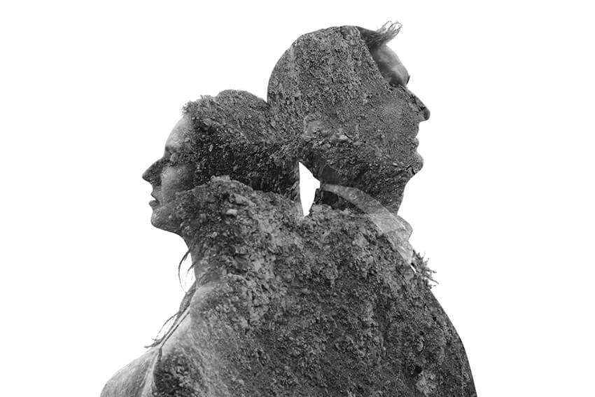 podwójna ekspozycja w fotografii ślubnej