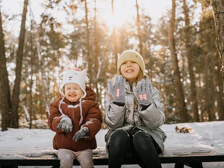 Zimowa sesja rodzinna w Arendel | Śnieg w krainie reniferów