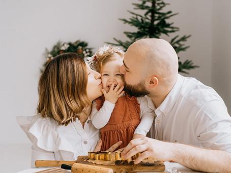 Studyjna sesja świąteczna w skandynawskim klimacie