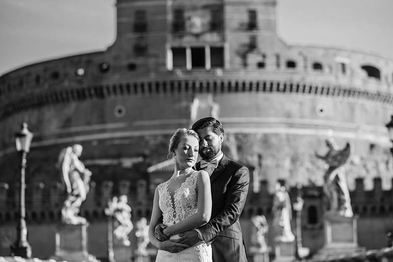 sesja ślubna w Rzymie Zamek Anioła