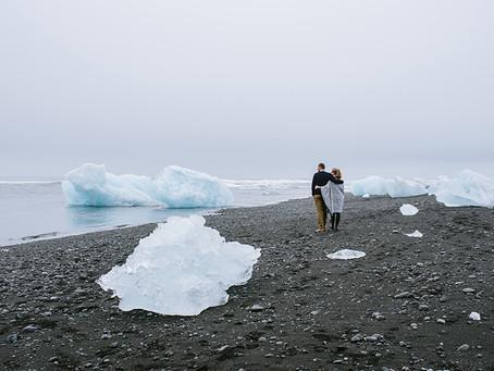 Sesja narzeczeńska na Islandii | Jökulsárlón – Glacier Lagoon | Tamara i Michał