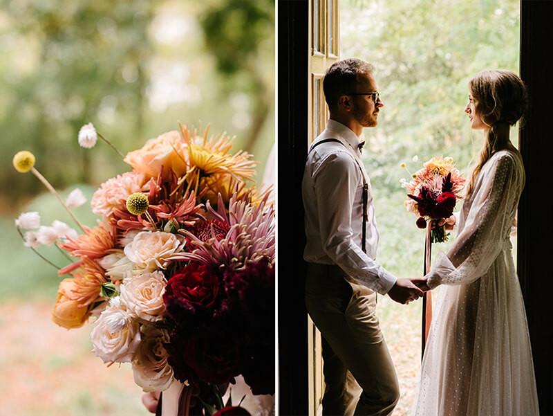 rustykalny ślub w dworku separowo