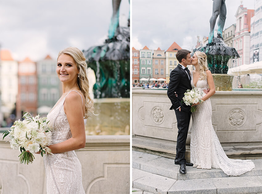 minisesja w dniu ślubu na Starym Rynku w Poznaniu