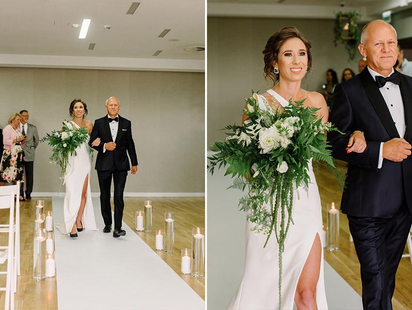 suknia ślubna na jedno ramię