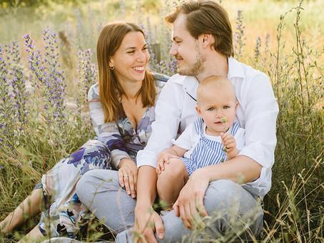 Sesja rodzinna przy zachodzie słońca | Marysia, Patryk i Hela