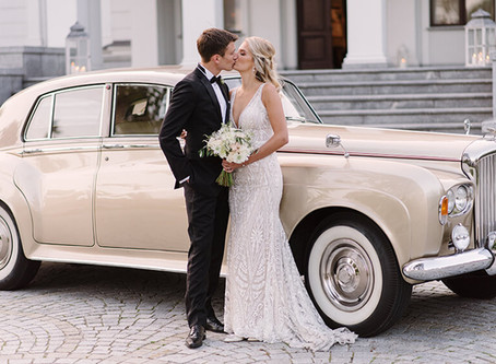 Ślub w stylu glamour | Pałac Tarce | Anna i Adam |  Fotograf ślubny Poznań