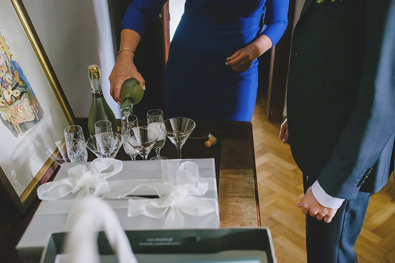 reportaż ślubny toast