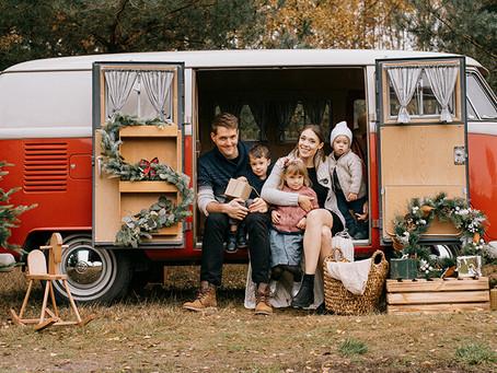 Rodzinka Woźniaków w Arendel | Świąteczna sesja rodzinna