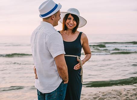 Sesja ciążowa nad morzem | Ala i Łukasz
