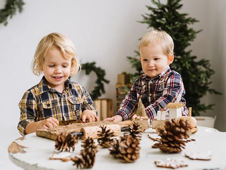 Świąteczna sesja w studio | Zuzia i Karol z synkami