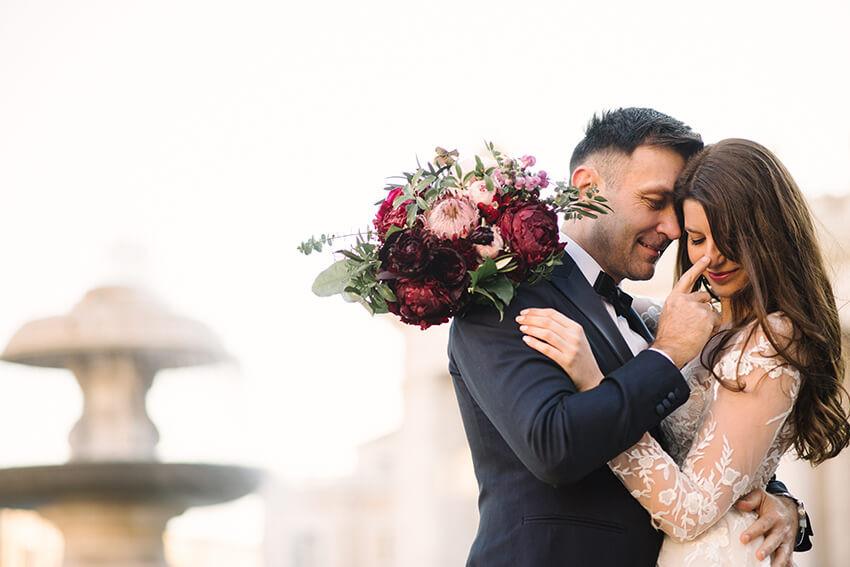 sesja ślubna w watykanie