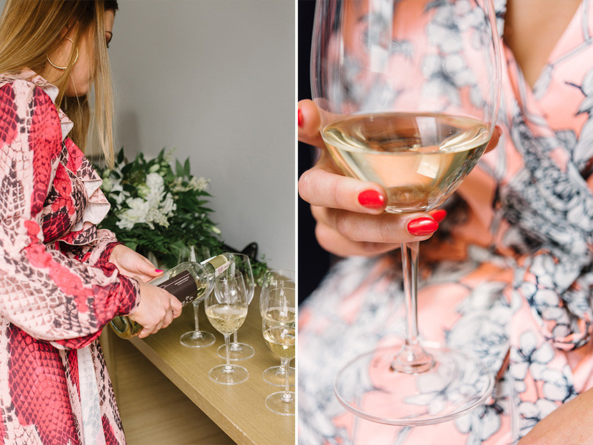 szampan na przygotowaniach panny młodej