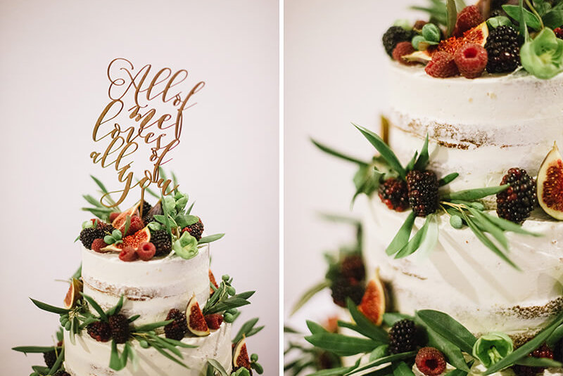 rustykalny naked cake od Karpicko